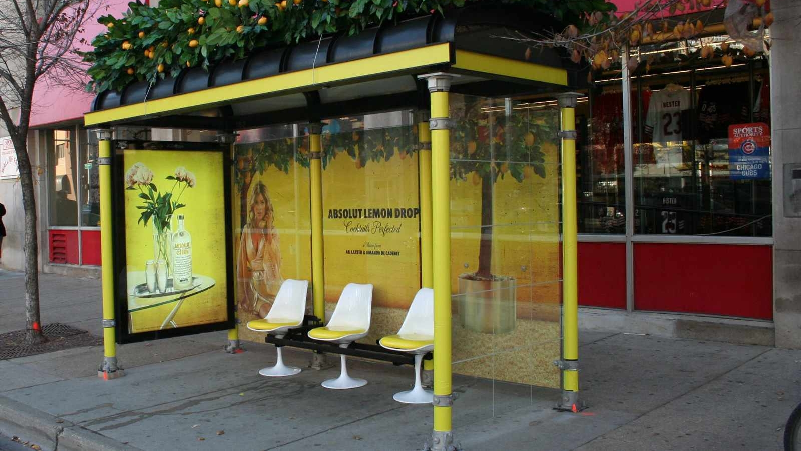 bus shelter advertising image here